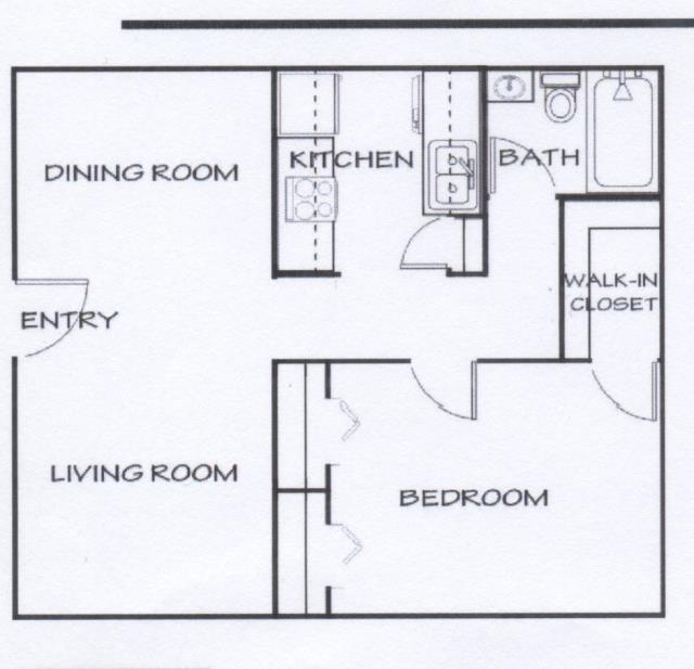 635 sq. ft. A floor plan