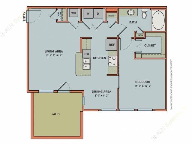 805 sq. ft. EA4.2 floor plan