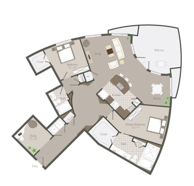 1,754 sq. ft. Wescott floor plan