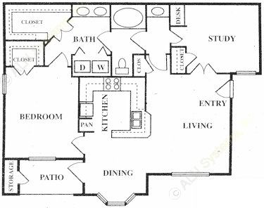 984 sq. ft. Kensington floor plan