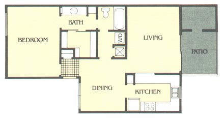 818 sq. ft. B floor plan
