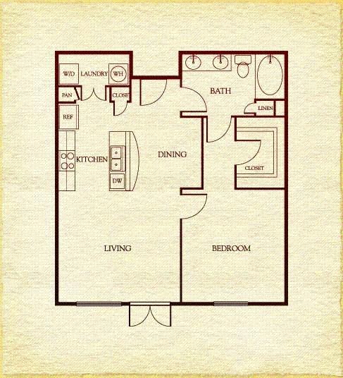 792 sq. ft. to 810 sq. ft. floor plan