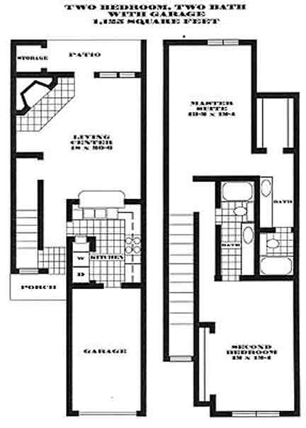 1,125 sq. ft. S2 PH II floor plan