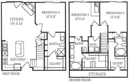 1,677 sq. ft. C4 floor plan