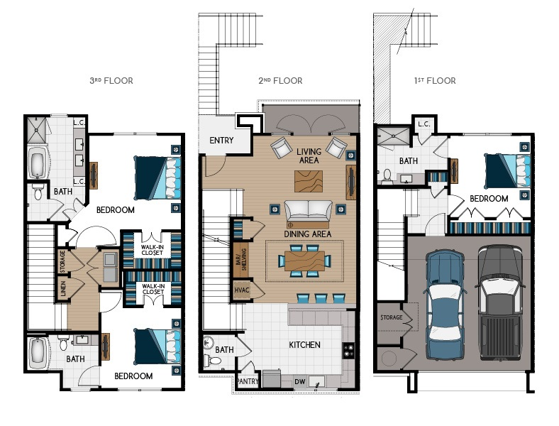 2,173 sq. ft. TH2 floor plan