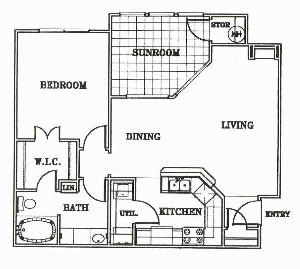 846 sq. ft. A2-Sonoma floor plan