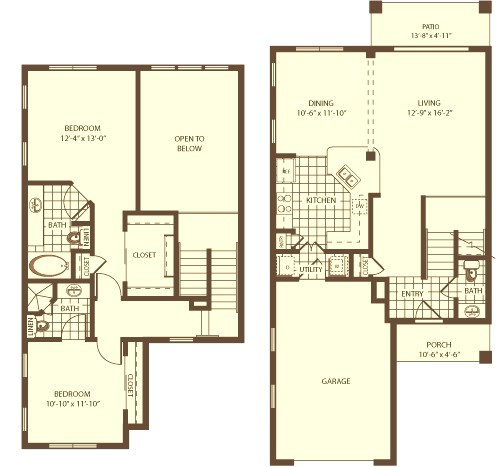 1,394 sq. ft. Dunedin floor plan