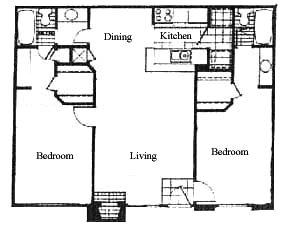 937 sq. ft. floor plan