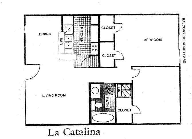 869 sq. ft. 60% floor plan