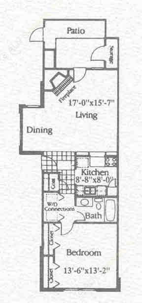 787 sq. ft. A1 floor plan