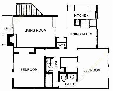 915 sq. ft. Thursday floor plan