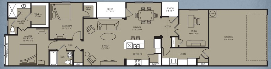 1,453 sq. ft. Lunar Cottage floor plan