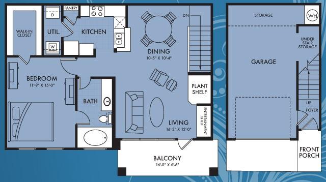903 sq. ft. Celestra floor plan