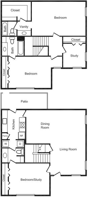 1,280 sq. ft. floor plan