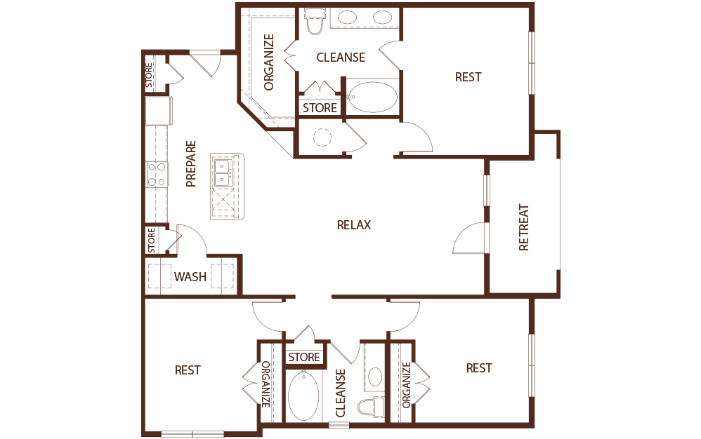 1,513 sq. ft. C1A floor plan