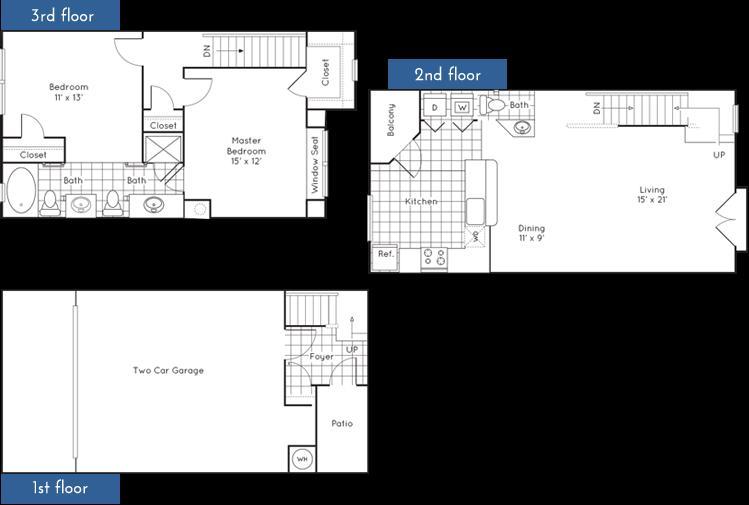 1,320 sq. ft. to 1,329 sq. ft. floor plan