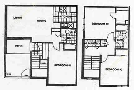 1,146 sq. ft. SC1 floor plan