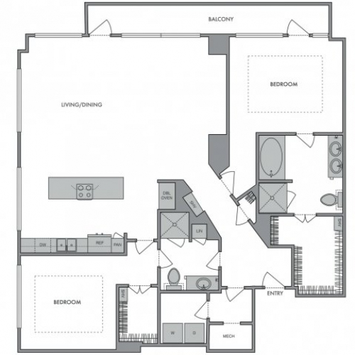 1,498 sq. ft. R floor plan