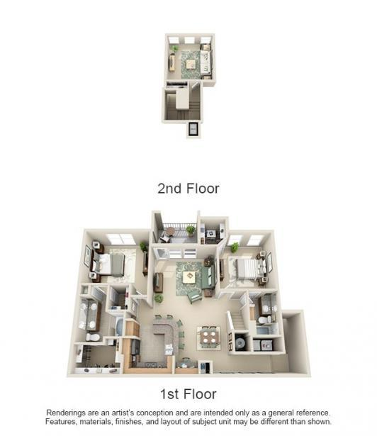 1,582 sq. ft. Hac/Grande floor plan