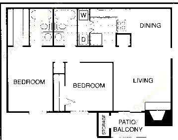 952 sq. ft. FM floor plan