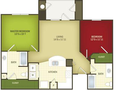 985 sq. ft. Heirloom 30% floor plan