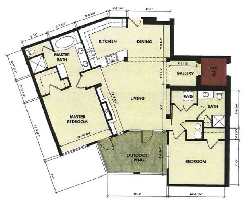 1,465 sq. ft. Lavaca floor plan
