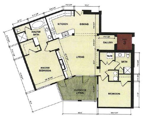 1,465 sq. ft. Lavaca floor plan