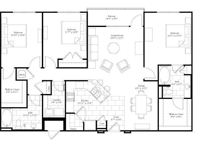 1,581 sq. ft. floor plan