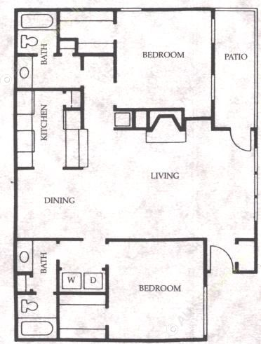 1,123 sq. ft. Stallion floor plan