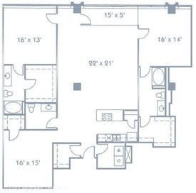 1,986 sq. ft. B9 floor plan