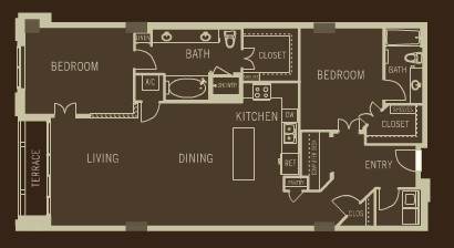 1,678 sq. ft. B4 floor plan
