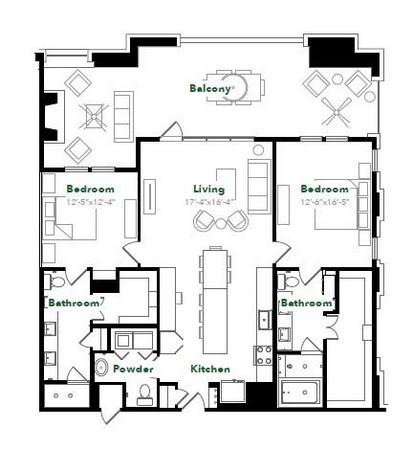 1,486 sq. ft. B45 floor plan