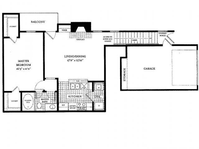 813 sq. ft. PALAZZO floor plan