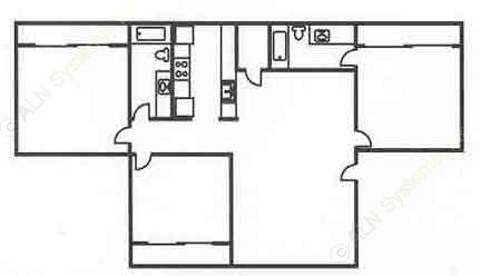 1,288 sq. ft. C1 floor plan