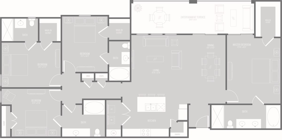 1,869 sq. ft. Lounge floor plan