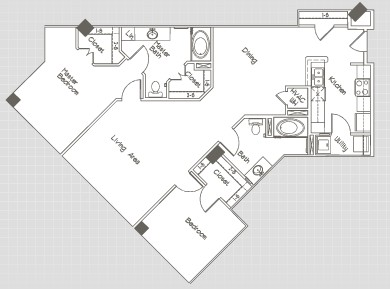 1,279 sq. ft. B5.6 floor plan