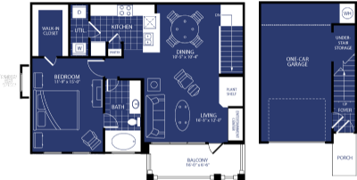 903 sq. ft. Celestia floor plan
