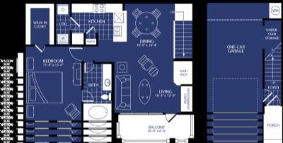 903 sq. ft. Celestia floor plan