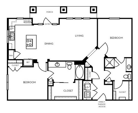 1,199 sq. ft. B2.9 floor plan