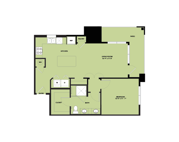 773 sq. ft. A4-S.1FSC floor plan