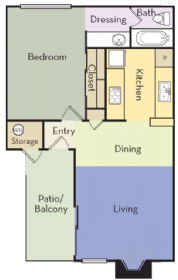 560 sq. ft. floor plan