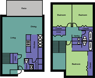 1,317 sq. ft. floor plan