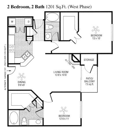 1,128 sq. ft. to 1,201 sq. ft. G floor plan