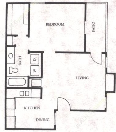 597 sq. ft. Pony floor plan