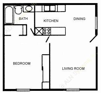 630 sq. ft. 60 floor plan