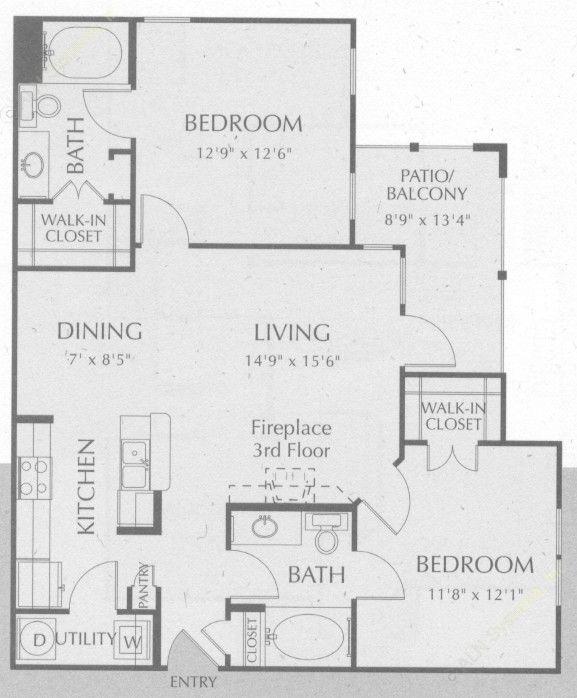 1,007 sq. ft. Navajo floor plan