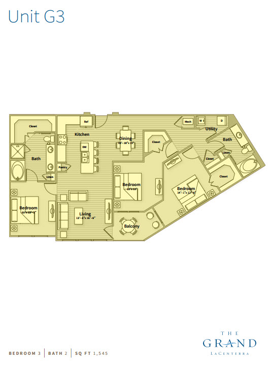 1,545 sq. ft. G3 floor plan