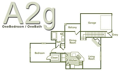 841 sq. ft. A2G floor plan