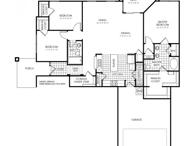 1,586 sq. ft. Tapatio Springs floor plan