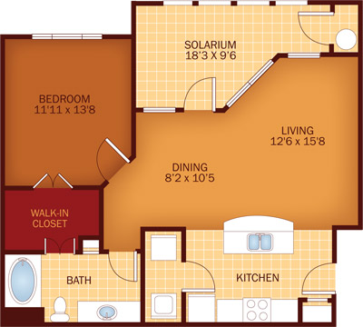 950 sq. ft. Sparrow floor plan